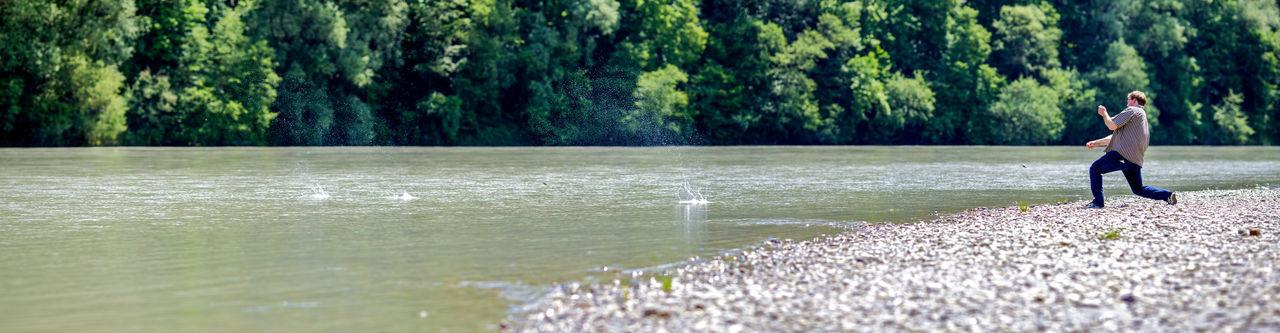 River Fluss Sternchen Hüpfen Steine Stein Capturing Movement Deceptively Simple Capture The Moment Adventure Buddies Panorama Better Look Twice
