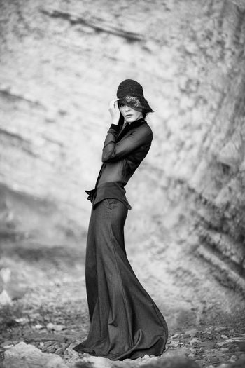 High Fashion The Week on EyeEm Vogue Style Blackandwhite 1920's Dressed Woman 1920's Style Black Dress Fashion Fashion Stories Hat Nature Beautiful Woman Cliff Clothing Elégance Fashion Full Length High Fashion Long Dress Long Shirt Look Retro Hat Retro Styled Rocky Background Woman Holding Hat Women