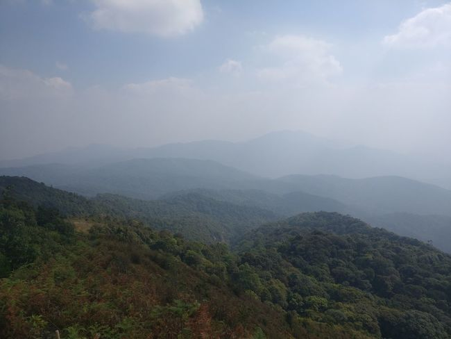 Mountains Landscape Hazy  Distant View Tropical Climate Sunny Clear Sky Hiking Adventure