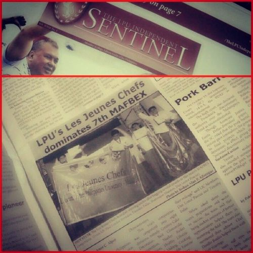 The official news paper of LPU Manila :) Covers the success of my LJC Family . MAFBEX CakeDeco Winners LJC Pride DrivenByPassion