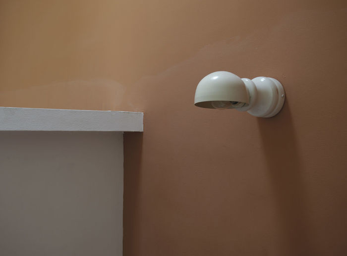 Electric lamp on wall