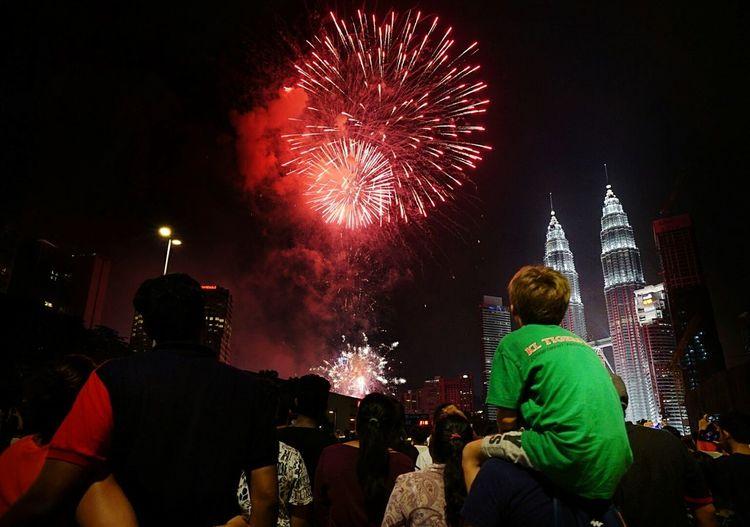 Happy new year 2017 Firework Display Celebration New Year Around The World New Year 2017 EyeEm Gallery Holidayseason Klcc Malaysia Truly Asia MalaysiaTourism EyeEm Best Shots