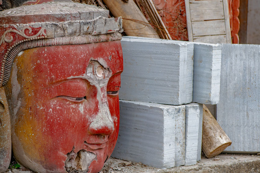 Temple Architecture Temple Ziseetheworld Ziwang Mountain Peak Mountain Range Mountain Jiuhuashan Buddha Image Buddha Statue Buddhist Temple Buddhism Buddha China Zhejiang,China Sculpture Art And Craft Spirituality Place Of Worship Statue Belief Craft