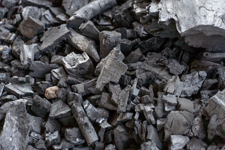 Full frame shot of stack of stones
