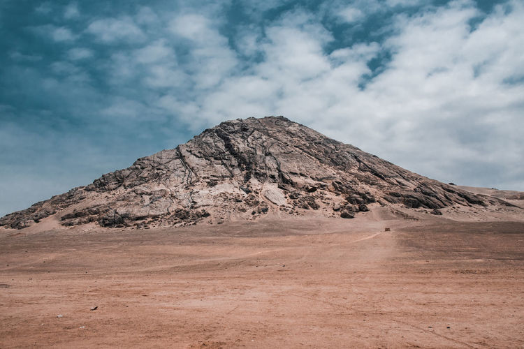 Cloud - Sky Sky Scenics - Nature Environment Landscape Beauty In Nature Tranquil Scene Tranquility Nature Land Mountain Non-urban Scene Desert Day Geology Physical Geography No People Climate Arid Climate Rock Outdoors Formation Mountain Peak Eroded Cerro Blanco