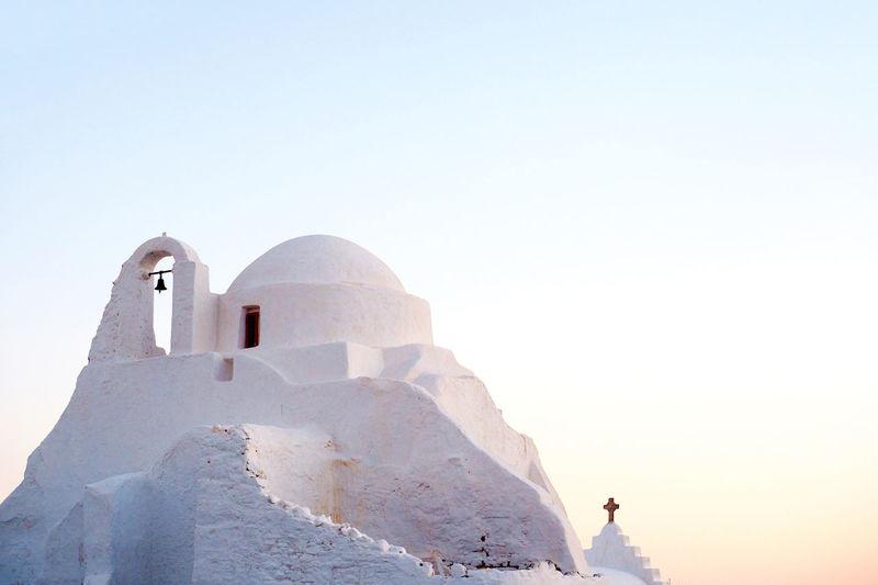 Pastel Architecture Church Churches Greece Mykonos Olympus Pastel Sky Travel The Architect - 2017 EyeEm Awards