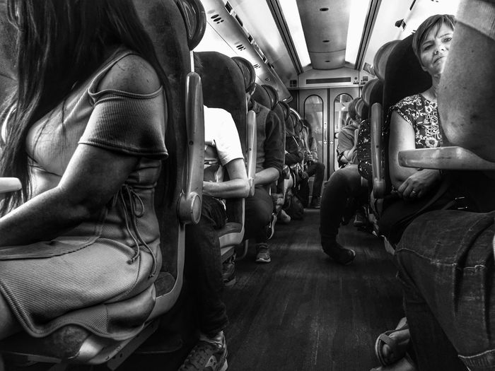 EyeEm Selects Train Vehicle Interior Vehicle Seat Indoors  Sitting Day No People