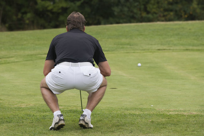 Golfing Competitive Sport Day Focus On Foreground Full Length Golf Golf Ball Golf Club Golf Course Golf Swing Golfer Grass Green - Golf Course Leisure Activity Men One Man Only One Person Outdoors Playing Real People Rear View Skill  Sport Sportsman Standing Tee
