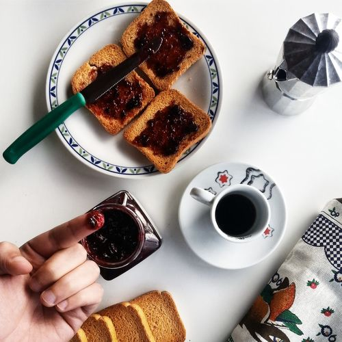 Blueberry Jam And Toasted Bread