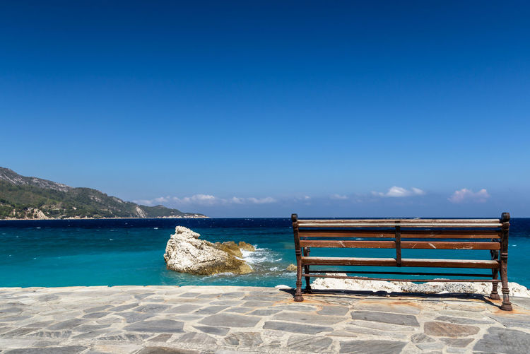 Beach Beauty In Nature Blue Day Horizon Over Water Nature No People Outdoors Samos,greek,europe,relax,break Scenics Sea Selfie Sky Tranquility Water