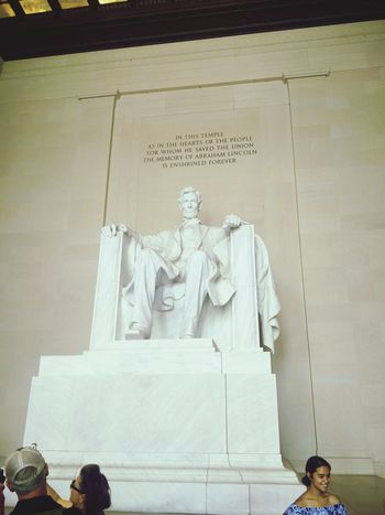 EyeEm Selects Travel Destinations Statue Sculpture History Travel Architecture Built Structure Washington, D. C. Abraham Lincoln Statue Lincoln Memorial