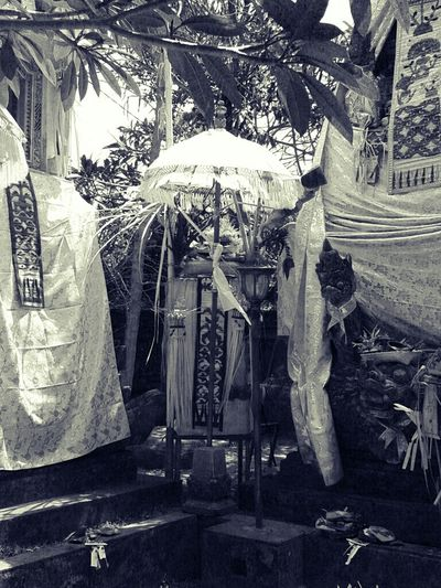 Blackandwhite Temple Culture Bali Offering