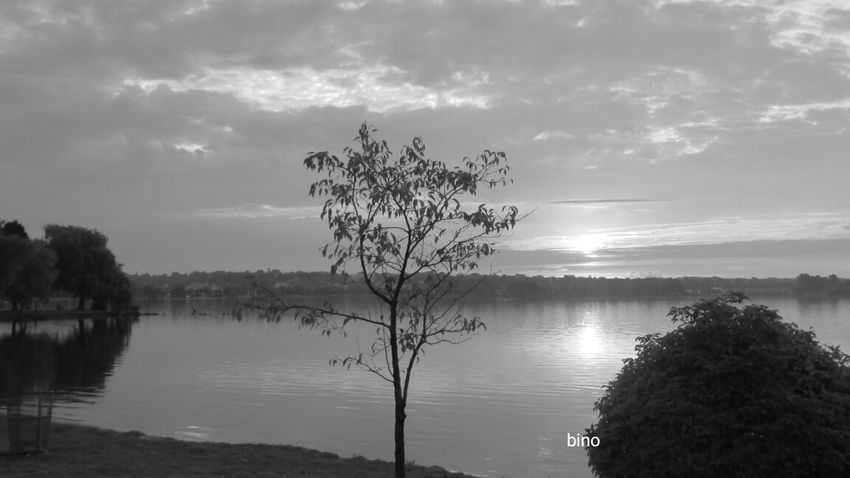 Taking Pictures Around The Lake Dawn Of A New Day Lake Like Glass Black And White Photography Sunrise_Collection Lake Cadillac Pure Michigan