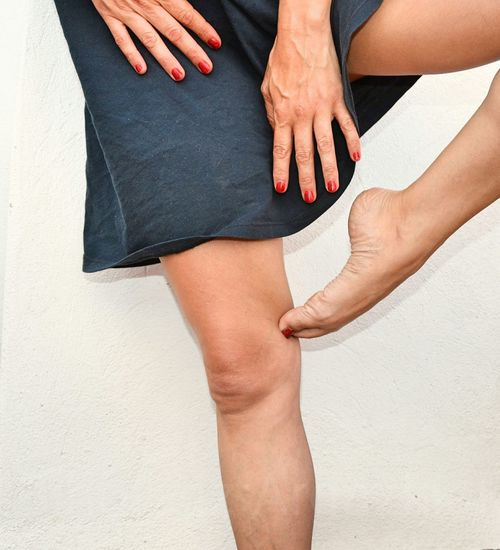 Cropped image of female legs
