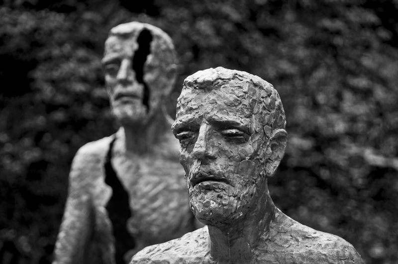 Suffering is Written_in_their_faces - My entry for the Bnw_friday_eyeemchallenge Bw_collection Blackandwhite The Memorial to the victims of communism
