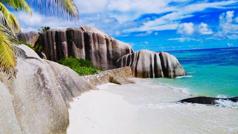 Ladigueisland Seychelles Seychellen Island Insel Paradise Paradise Beach Paradise ❤ Nature Geology Rock Formation Tranquility Sea Sky Travel Destinations Sand Beach Strand