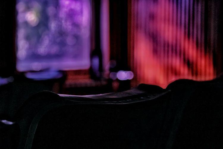 Chairs at illuminated theater