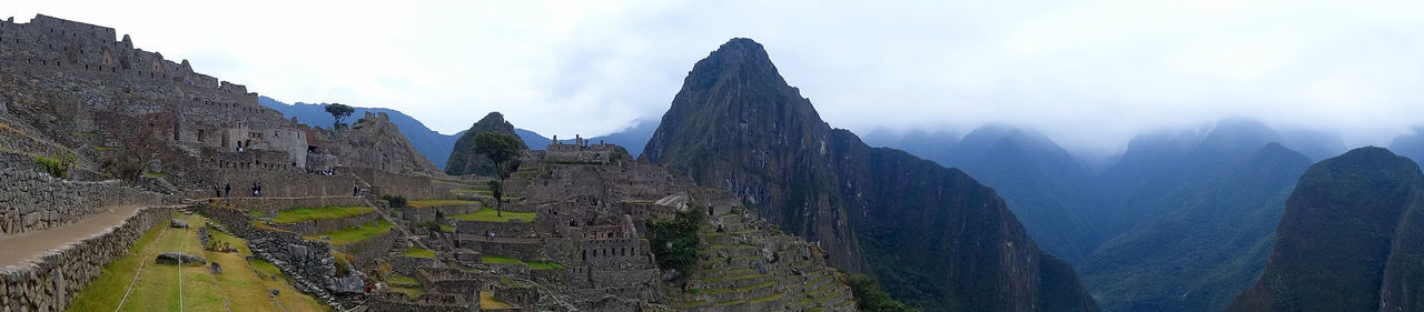 Ancient Ancient Architecture Ancient Civilization Ancient Ruins Beauty In Nature Buildings Culture Inka Landscape Macchu Picchu Mountain Mountain Range Nature Outdoors Panoramic Peru Ruins Scenics Travel Destinations