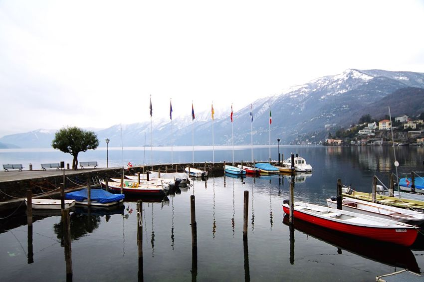 Locarno Lake View Lake Caique Harbour Landscapes With WhiteWall