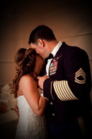 A Forever Love Couple Military Life Military Wedding Love Two People Bridegroom Romance Togetherness Wedding Embracing Couple - Relationship Formalwear Bride Affectionate