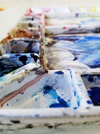 Messy pallete after art class Art Paint Pallete Art Is Messy