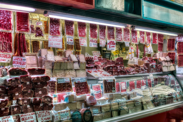 Malaga, Spain - May 12, 2018. Shop with Spanish specialties fom Ataranzanas Central Market, Malaga, Spain Ataranzanas Malaga SPAIN Spanish Food Abundance Arrangement Business Choice Collection Consumerism Display Display Cabinet Food Food And Drink For Sale Glass - Material Iberic Iberic Pork Jamón Ibérico Large Group Of Objects Meat Love Meat Market Retail  Retail Display Roberto Sorin Sale Shopping Spanish Culture Store Sweet Sweet Food Temptation Transparent Variation Window The Photojournalist - 2018 EyeEm Awards The Street Photographer - 2018 EyeEm Awards