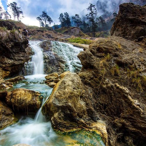 Aok kalak Waterfall Rock - Object Nature Beauty In Nature Motion Long Exposure Landscape Travel Destinations EyeEm Best Shots EyeEm Gallery Landscape_Collection