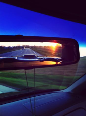 Sunset Blue Sky In My Rearview Mirror Frame It!
