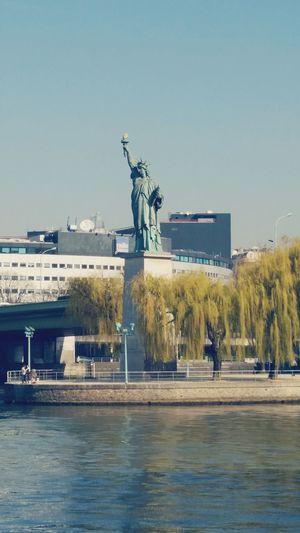 France Statuteliberty Vacation Warm Day Sun 2015  Water Warm Day
