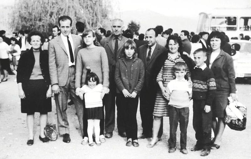celebration of may 1. vintage photo from macedonia. may 2,1968th Parents And Children Parents House Wife Happy People Posing For The Camera Socialism 1968 Macedonia 1 Of May Celebration Girls Man Woman Childhood Yugoslavia Josip Broz Tito Portrait Child Full Length Crowd Men Music Girls Looking At Camera Well-dressed Children Preschooler