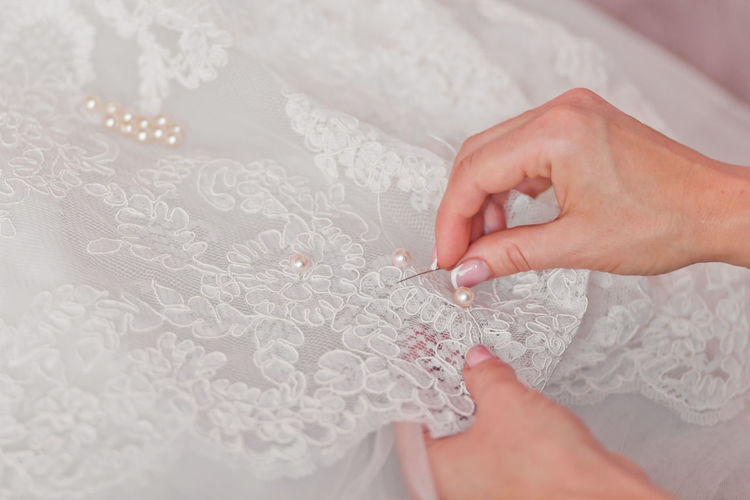 Fabric Fabric Detail Hand Hands At Work Tailored To You Wedding Inspiration White White Color
