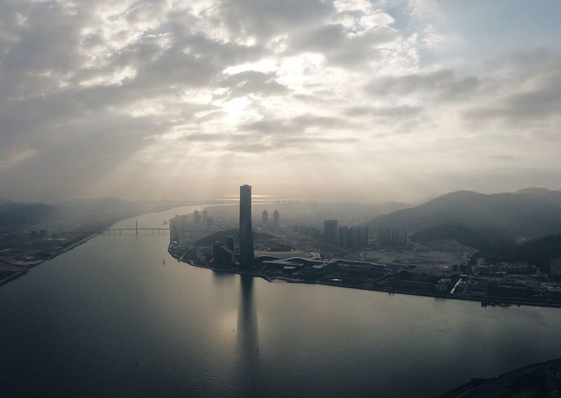 From Macau Tower Cloud - Sky Cityscape Skyscraper Travel Destinations Day City