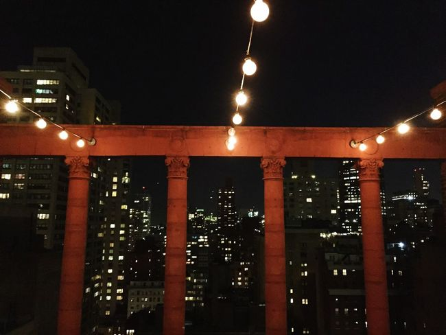 From The Rooftop Rooftop View  City Night Lights Manhattan Lotti On Tour