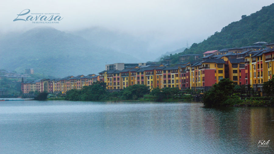Water Mountain Outdoors Cloud - Sky Tree City No People Sky Nature Day Lavasa City Pune Lavasacity Colors Colorful Landscape