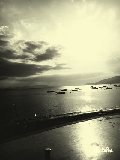 Sea Boat Beach Beauty In Nature Nature Ship Blackandwhite Black And White Bursa / Turkey Mammamia