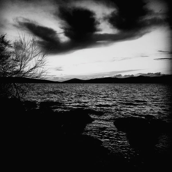 Sunset Cloud - Sky Nature Sky Beauty In Nature Tranquility Scenics Sea Silhouette Dusk Water No People Tranquil Scene Outdoors Horizon Over Water Landscape Beach Day Black And White Photography Blackandwhite EyeEmNewHere Darkness Mistic Place Beach Horizont