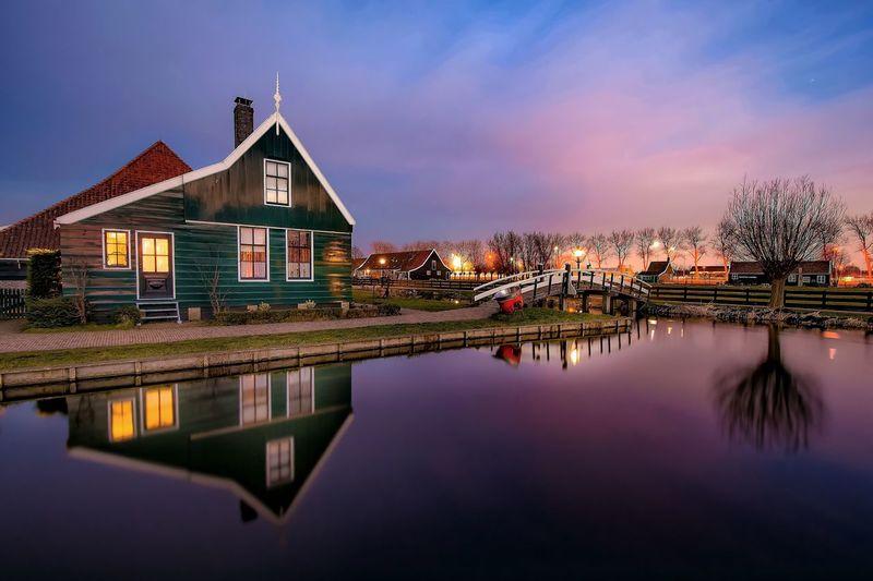 Netherlands Netherlands ❤ Long Exposure Longexposure ND Filter Sunset_collection Houses Countryside Country Life Holland Zaanse Schans Zaandam