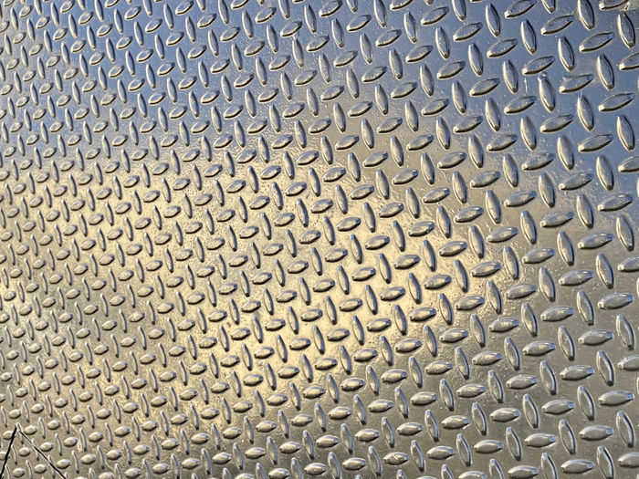 Full frame shot of patterned metal