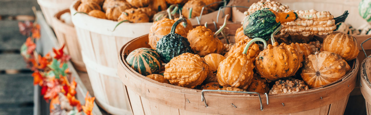 Close-up of vegetables in basket for sale at market stall