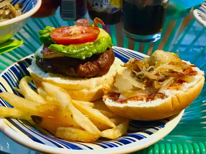 Sweet Onions Caramelized Onions French Fries Meat! Meat! Meat! Avocado Sandwich Tomato Food And Drink Food Ready-to-eat Plate French Fries Freshness Table Unhealthy Eating Close-up Prepared Potato No People Serving Size Indulgence Burger Fast Food