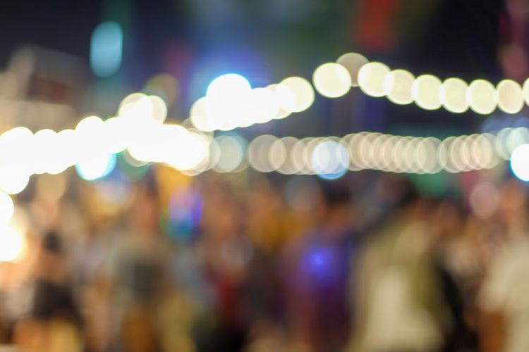 Close-up of illuminated blurred lights