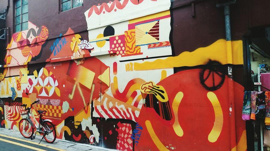 EyeEm Selects Multi Colored Street Art Outdoors Day Close-up Painted Image People Wallart, Art, Culture, Mycity, Streetart, Graffiti Eveningwalk_Snap Singapore View Travel Destinations Building Exterior Singapore Architecture