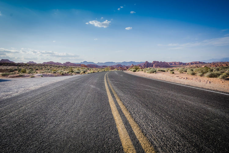 Day Desert Landscape Road Road Trip Scenics Sky Winding Road