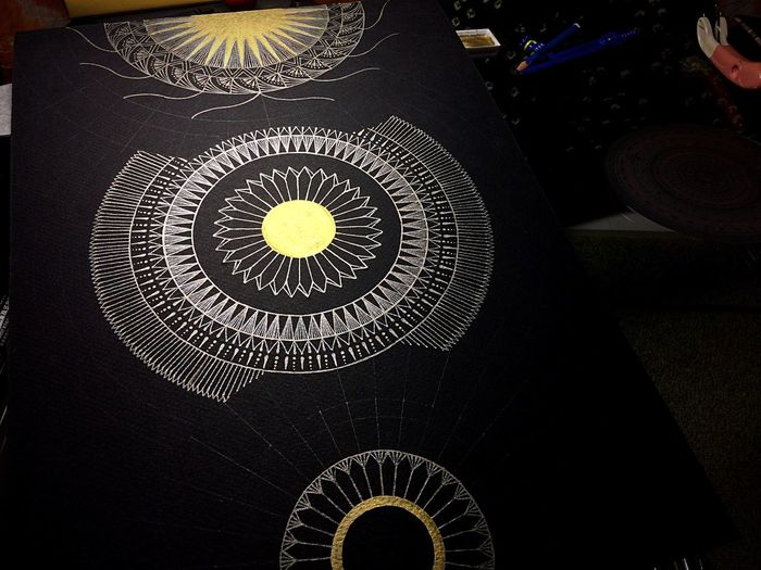 Halfway YohkoAmaterraArt ArtWork Design Drawing Art Illustration My Drawing Geometry Mandala 曼荼羅 Sacred Geometry 宇宙 Cosmo Nature Art Day