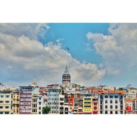 Istanbul Eminönü Galatakulesi Galatatower city colourful snapseed vsco hdr dslr