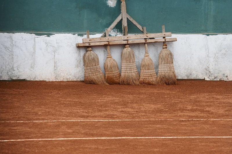 Vintage clay tennis court
