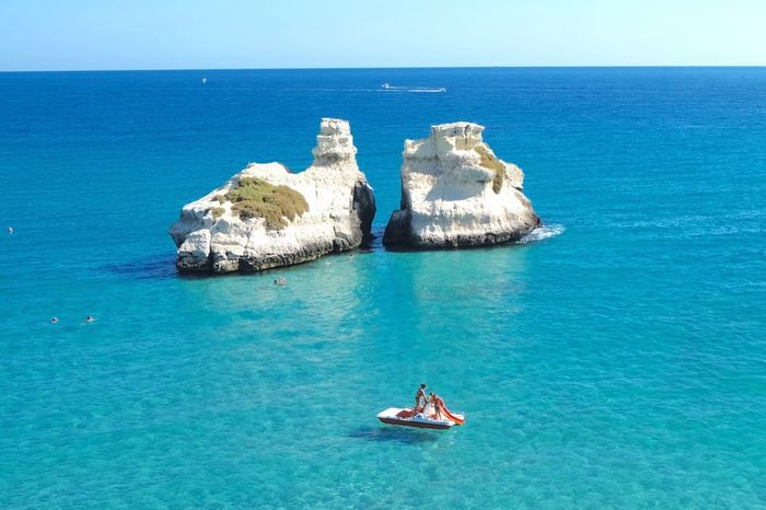 Two Is Better Than One Relaxing Enjoying Life Natural Beauty Mare Puglia South Italy See Scogli