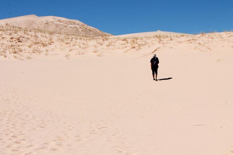Silhouette of man on mountain
