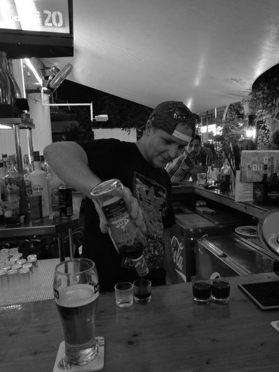John(shandy) pouring some shots