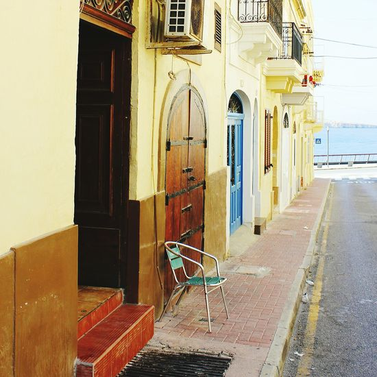 Side Street Sitting Space in Malta Architecture Door No People Building Exterior Outdoors Day